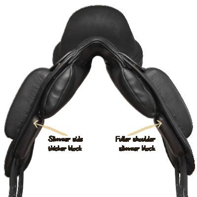 Wenn ein Pferd asymmetrische Schultern hat,...