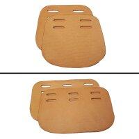 Sattelgurt-Schnallenschutz aus Leder (2teilig)